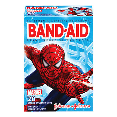 Johnson & Johnson Band Aids 20-Count - Spiderman