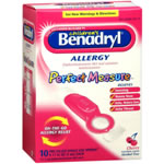 Benadryl Children's Perfect Measure Allergy Pre-Filled Single Use Spoons Cherry Cherry Flavored Liquid