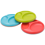 Boon Saucer Edgeless Stay-Put Divided Plate (Set of 3)