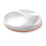 Boon Saucer Edgeless Stay-Put Divided Plate