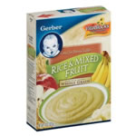 Gerber Rice Cereal & Mixed Fruits