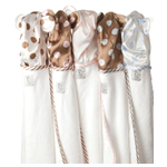 Little Giraffe Chenille Lollipop Satin Towel