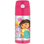 Thermos Dora Funtainer Straw Bottle - 12 Oz. (Original Licensed)